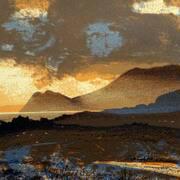 Evening Light on Atlantic Drive,Achill