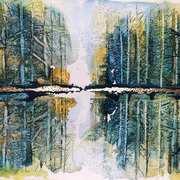 Autumn Cones Calling,Watercolour,pastel