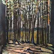 Autumn Woods,Watercolour,pastel