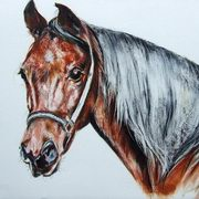 Irish Art, Brown Horse,