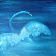 Rising Swan,Oil on Canvas