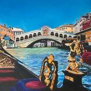 Sunny Morning On The Grand Canal (Ponte di Rialto,Venice)