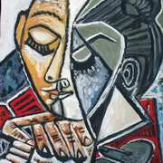 Woman Reading (after Picasso)