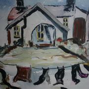 Washday At Whitehead,Co Antrim