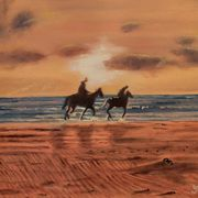 Irish Art, Horse at Dusk,