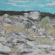 Burren National Park 2, oil pastels