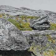 Burren National Park 3,oil pastels