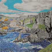 Mizen Head,Cork,oil pastels