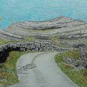 mullaghmore,2. burren co clare,oil pastels