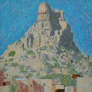 tafraoute,morocco,oil pastels,pencils,A2,420