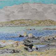 West of Tir an Fhia Galway, oil pastels