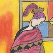 Meditations,Oil pastel