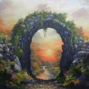 Sunset Celtic Secret Garden