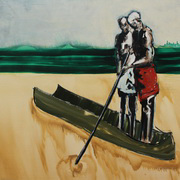 Two Figures In A Canoe