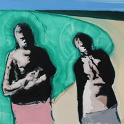 Two Figures Standing on the Roadside