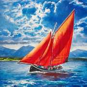 Galway Hooker at Sea