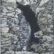Ravages of time II,aquatint etching,verni mou