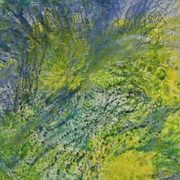 Spring Rain,Textile-Painted
