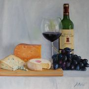 1846 Three Cheeses,oil on board