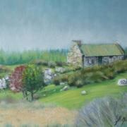 1943 Connemara Cottage,oil on panel