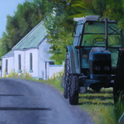 1949 Parked Up,oil on panel