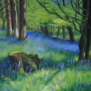 1961 Bluebell Spring, oil on panel