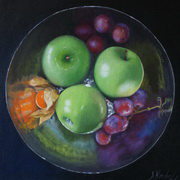 Grannies and Grapes,oil canvas board