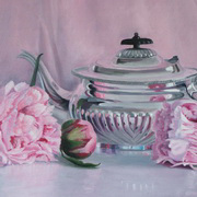 Pink Reflections,oil on canvas