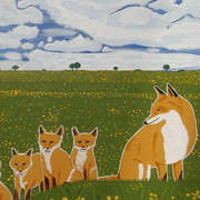 Foxes in the countryside