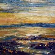 Evening light, south beach, Rush