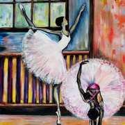 Ballerinas in practice
