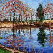 Lochan in Samhain. Lake in Summer.