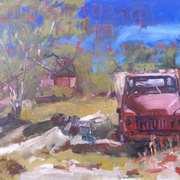 Red Truck, Lightning Ridge, Australia