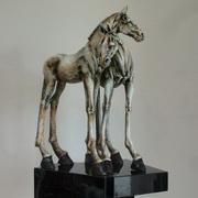 Tall Horse Doric Pair