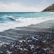 Bray,Pebbled Seashore