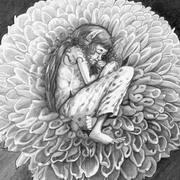 sleeping flower fairy