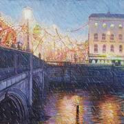 Rain on the Lee at Patrick's Bridge Cork