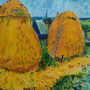Haystacks Homage to Vincent