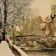 Snow Scene In Brugge