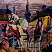 Irish Art, Horse-Fair Borris Co. Carlow,