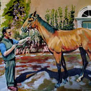 Irish Art, KARNAK With Trainer Homer Scott,