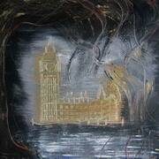 houses of parliament, mostly hammerite paint