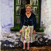 A Forgotten Time in Early Childhood Grandma by the Cottage Window Townland of Ballymoney Islandmagee County Antrim