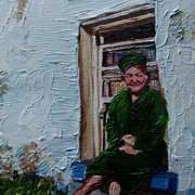A Seat in the Sun,Lady at a Cottage Window,Townland of Kilcoanbeg,