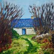 Abandoned Cottage,Keeraunbeg Townland,Galway,painted with consent from a photograph by Lesley O'Farrell