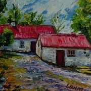 Alderwood Road Farm,Fivemiletown,County Tyrone,Painted with kind permission from a photograph by the Ulster Architectural Heritage Society