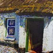 Ballinderry Forge Cottage,Cultra,County Down,Oil and acrylic on canvas