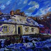 Corradreenan farmhouse in Snow,Cultra,County Down