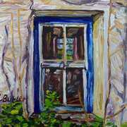 Cottage Window,Deserted Clachan,Dunseverick,County Antrim.