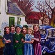 Halcyon Days,(my Mother and her Friends),Low Road,Townland of Kilcoanbeg,Islandmagee